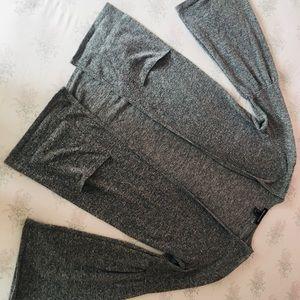 Grey bell sleeve cardigan
